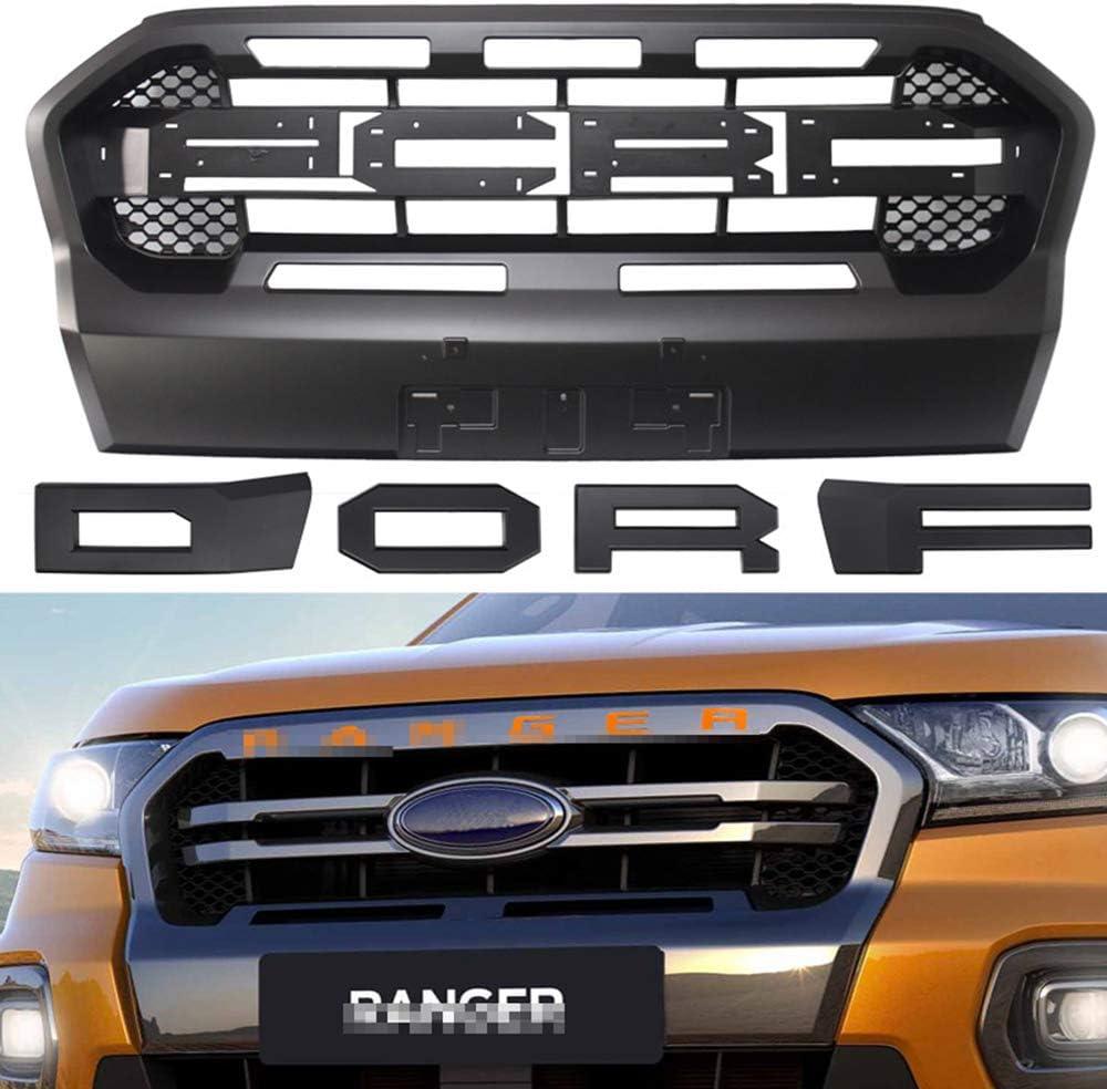 JTAccord Frontsto/ßstange Mesh Raptor Grille Modifizierter Grill f/ür Ranger 2018 2019 2020 T8 PX MKIII MK3 WILDTRAK Pickup Trucks ABS Schwarz Autozubeh/ör