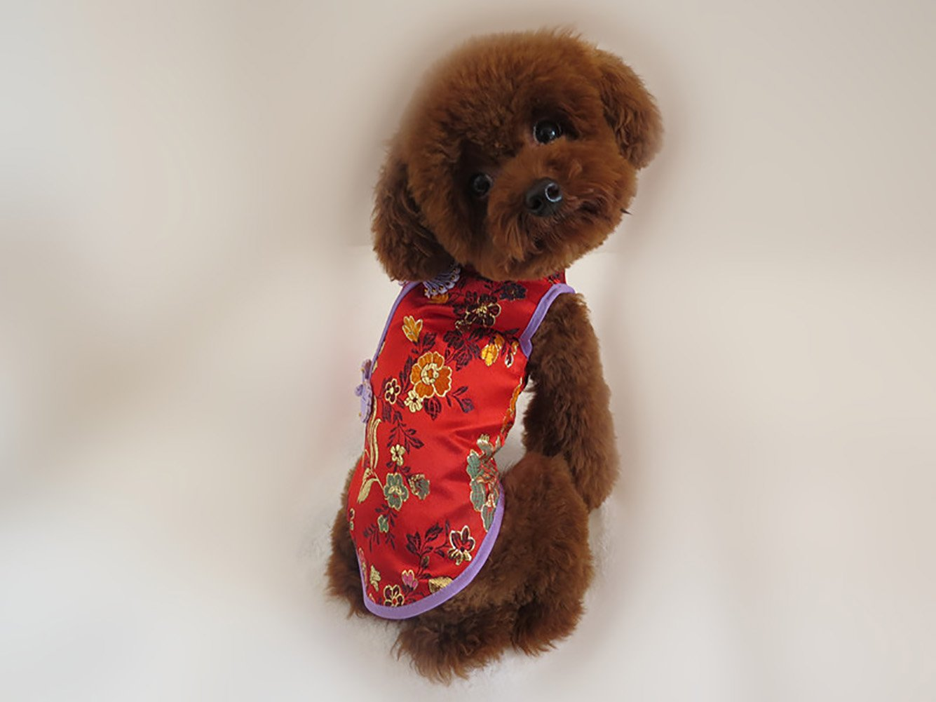 Tofover Dog Tang Suit Chinese Style Costume Pet T-Shirts Puppy Summer Dress Clothes