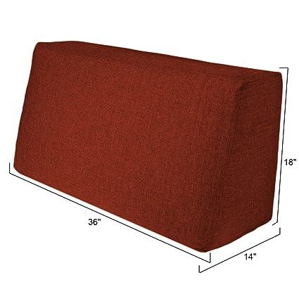 Incredible Amazon Com Duobed Sbp Tc Sofa Back Pillow 36 Inch Red Interior Design Ideas Tzicisoteloinfo