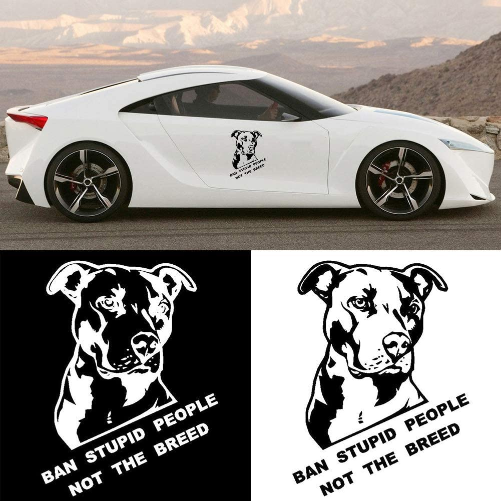 HERCHR Ban Stupid People Not The Breed Pitbull Car Sticker and Decals Motorcy