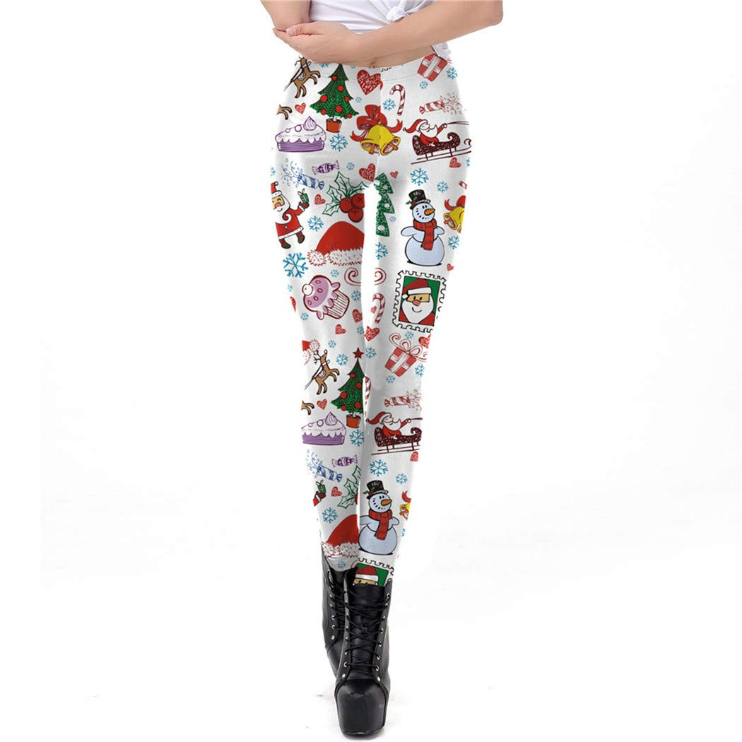 Christmas Red and White Striped Print Tight Skinny Soft Mid-Rise Leggings for Girls Or Womens