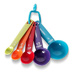 Farberware Color Measuring Spoons, Mixed Colors, Set of 5