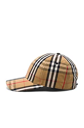 bfd21718c Burberry Men's Antique Check Cotton Baseball Cap Hat at Amazon Men's ...