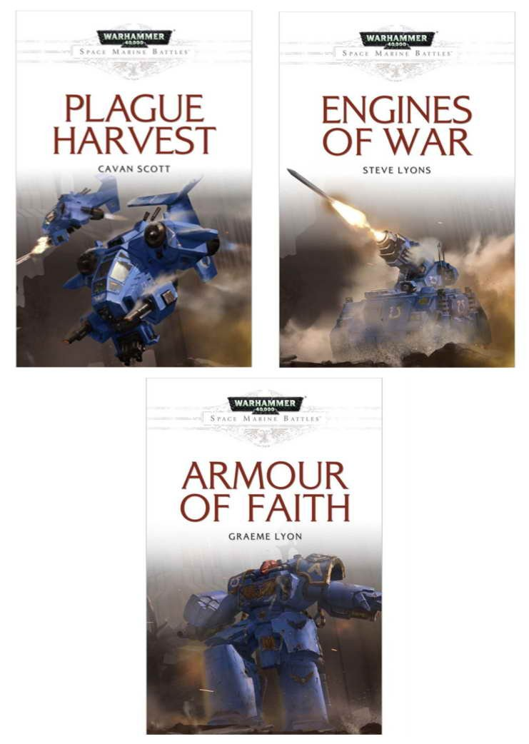 Download The Plagues of Orath Trilogy [A Space Marine Battles Tale]: Plague Harvest / Engine's of War / Armour of Faith (Warhammer 40,000 40K 30K Games Workshop Forge World) OOP ebook