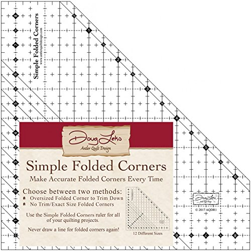Antler Quilt Design AQDR1  Simple Folded Corners Ruler