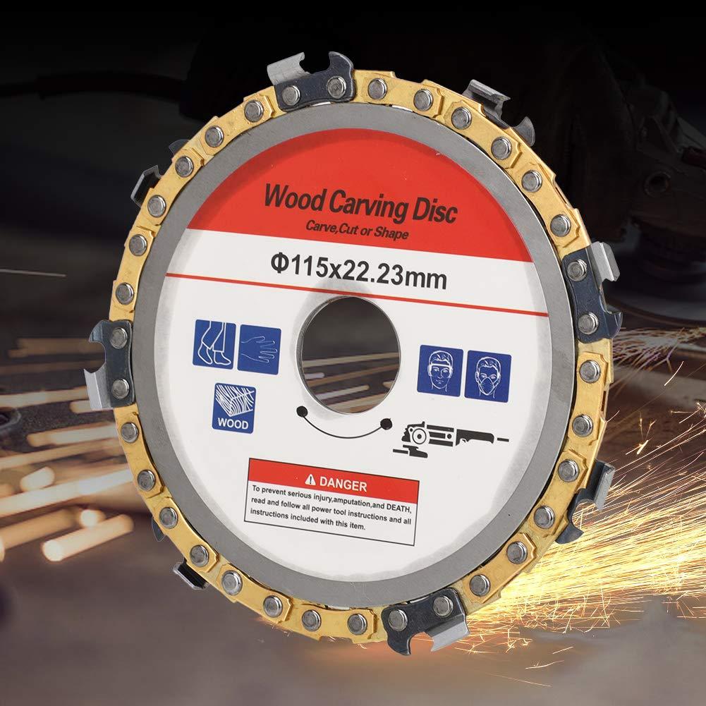 metal Accesorio de repuesto de disco de cadena de amoladora angular de 115 mm de amoladora para madera Disco de cadena de talla de madera madera contrachapada