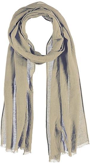 da337165082 Passigatti Foulard Chiffon avec Viscose d´ete pour femme (taille unique -  beige)
