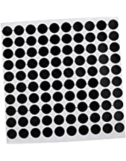 FITYLE 12mm/0.5inch Pool Snooker Billiard Table Dots Self Adhesive Black 100 Spots