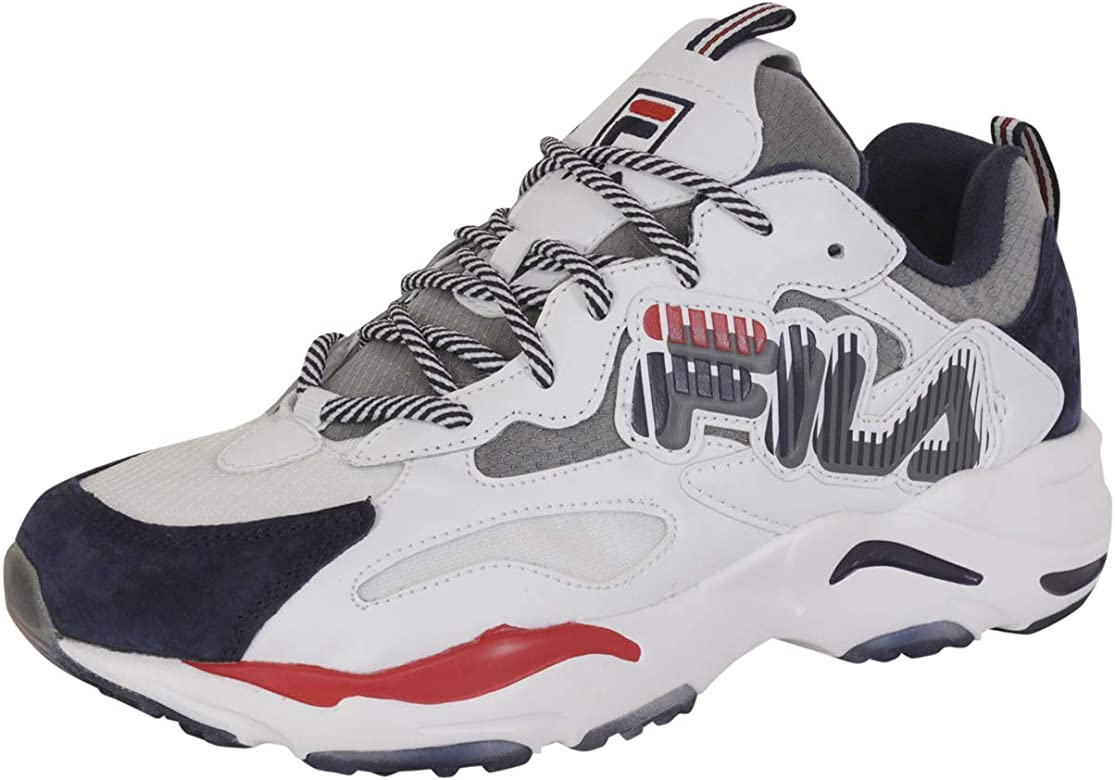 Amazon.com | Fila Men's Ray-Tracer-Graphic Fila Navy/White ...