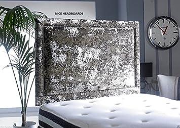 Luxury Crushed Velvet Studded Headboard 24 Inches Height 4ft6