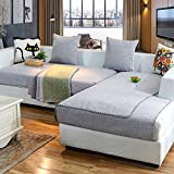 YANGYAYA Sectional sofa slipcovers,Sofa towel covers,Sofa protector cotton linen anti-slip decorative sofa covers throw sets for living room cushion cover-gray 90x90cm(35x35inch)