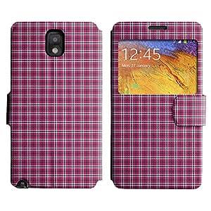 Be-Star Diseño Impreso Colorido Slim Casa Carcasa Funda Case PU Cuero - Stand Function para Samsung Galaxy Note 3 III / N9000 / N9005 ( Checkered Pattern )