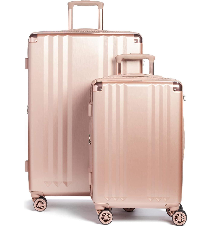 [カルパック] Ambeur 2ピーススピナーラゲッジセット CALPAK Ambeur 2-Piece Spinner Luggage Set [並行輸入品] (Rose Gold, One Size) B07SN1LW33 Rose Gold One Size