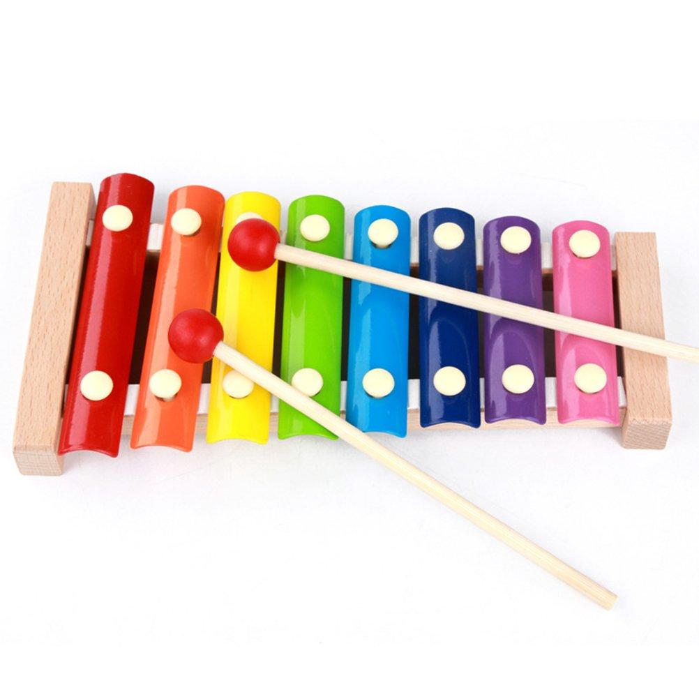 TOYMYTOY Giocattoli musicali xilofono giocattolo xilofono per bambini (stile A)
