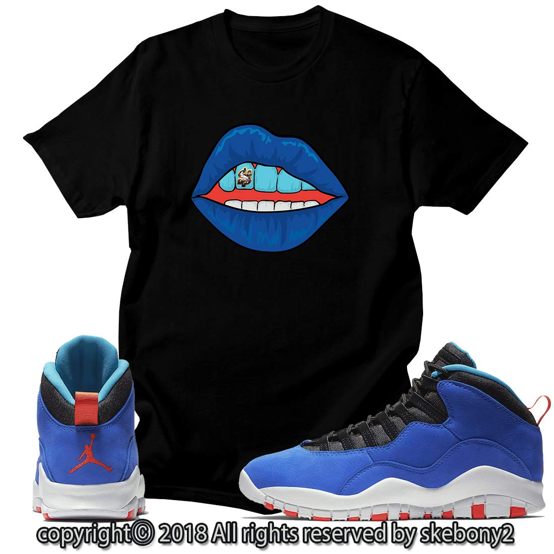 0c97c4a74ce5d7 Custom T Shirt Matching Style of Air Jordan 10 Huarache Light JD 10-4-6 at  Amazon Men s Clothing store