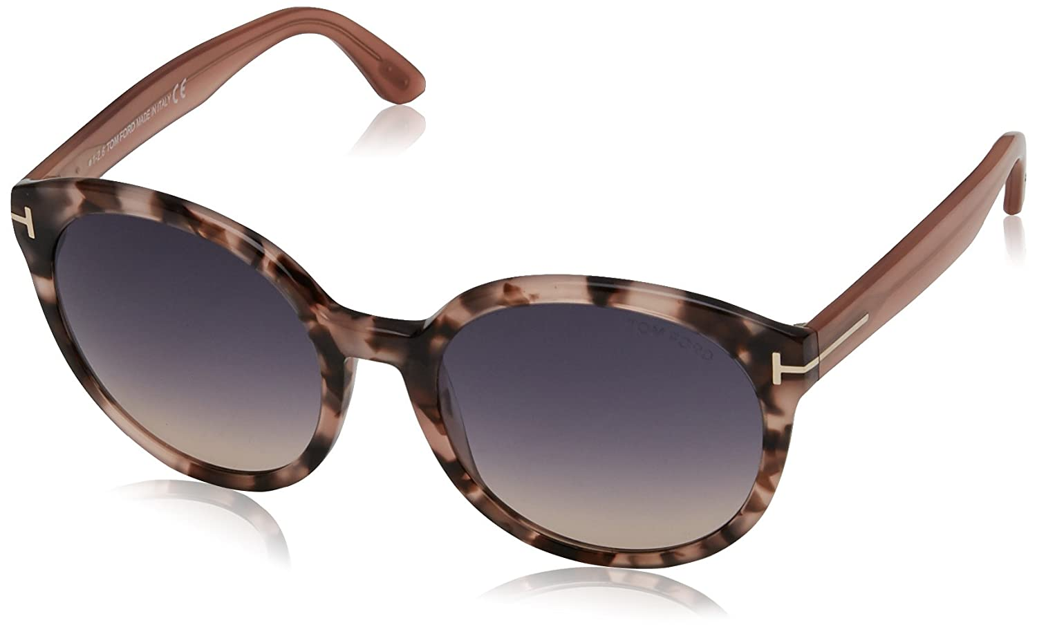 4964428791d Amazon.com  Tom Ford FT0503 56B Pink Havana Phillipa Round Sunglasses Lens  Category 2 Size  Tom Ford  Clothing