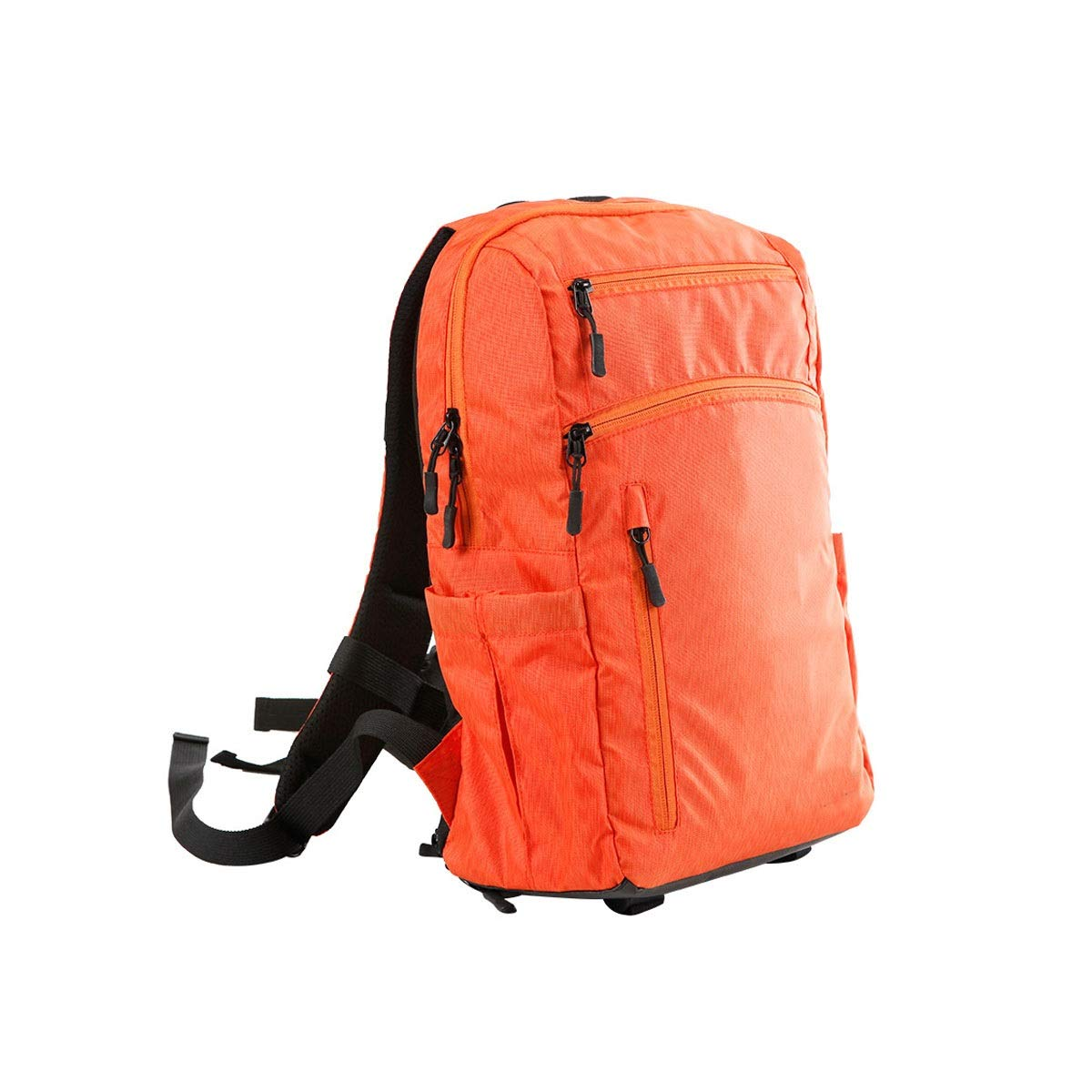 カメラバッグ、一眼レフトラベルカメラバックパックバッグ、ショルダーキャリングライトデザイン、オレンジ、ブラック (Color : Orange) B07R3JH412