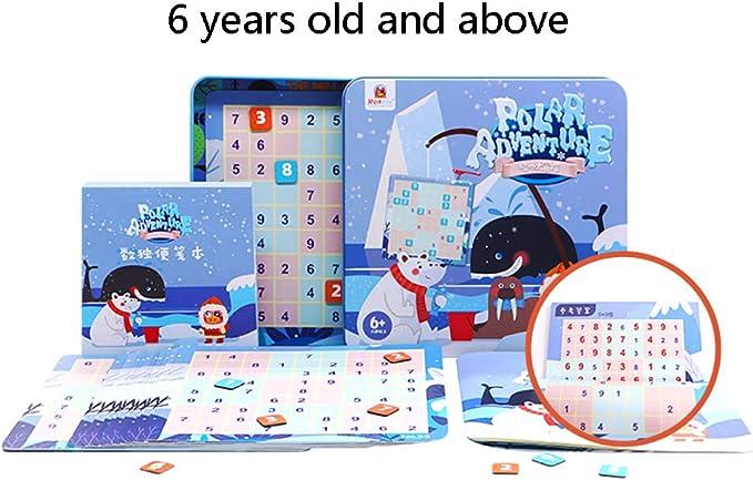 Niños Comenzando Juego De Mesa Jiugongge Rompecabezas Juguetes para Pensar Escalera Entrenamiento Sudoku Rompecabezas Educación Juguetes 3 Años Arriba,D: Amazon.es: Hogar
