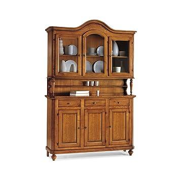 InHouse srls Credenza con vetrina, arte povera, in legno massello e ...