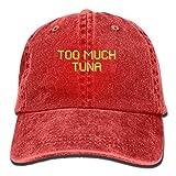 KEVIENHAT Men's Vintage Dad Denim Hat Adjustable Baseball Cap - Too Much Tuna