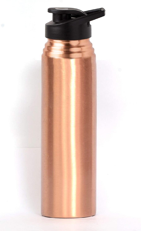 Taluka Handmade Copper Hammered Joint Free Bottle 1000 Ml Luxury Water Bottle