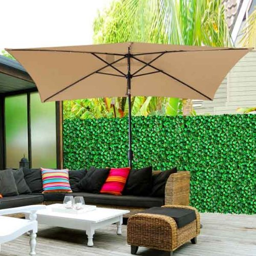 Rectangular Patio Umbrella With Solar Lights Simple Best Rectangular Patio Umbrella With Solar Lights OutsideModern
