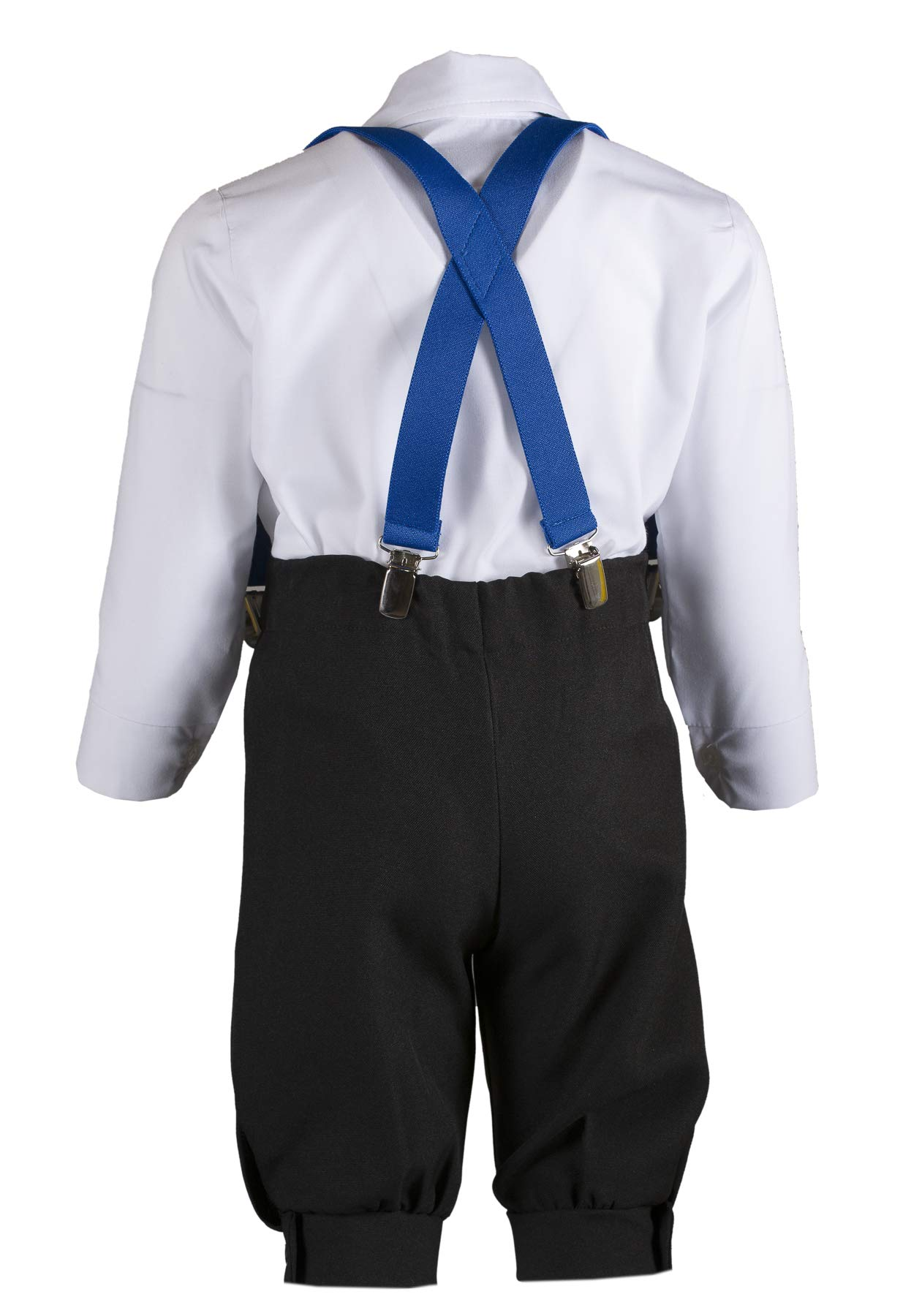 Boys Black Knickers Pageboy Cap with Royal Blue Suspenders & Snowflake Bow Tie (6B) by Tuxgear (Image #4)