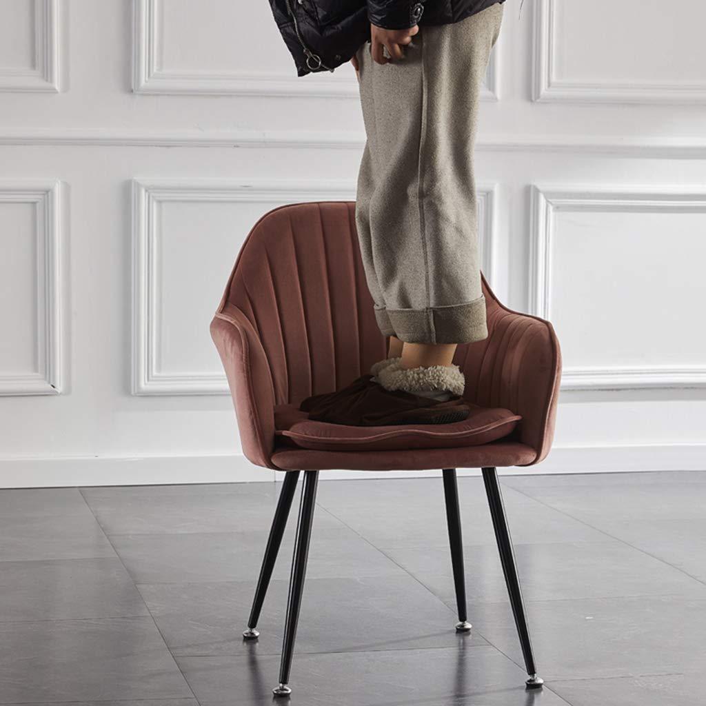 ZINIUKEJI Matstolar tyg stoppat säte, med ryggstöd och metallben armstöd stol, klädlounge hem | sitthöjd: 45 cm ljusgrön