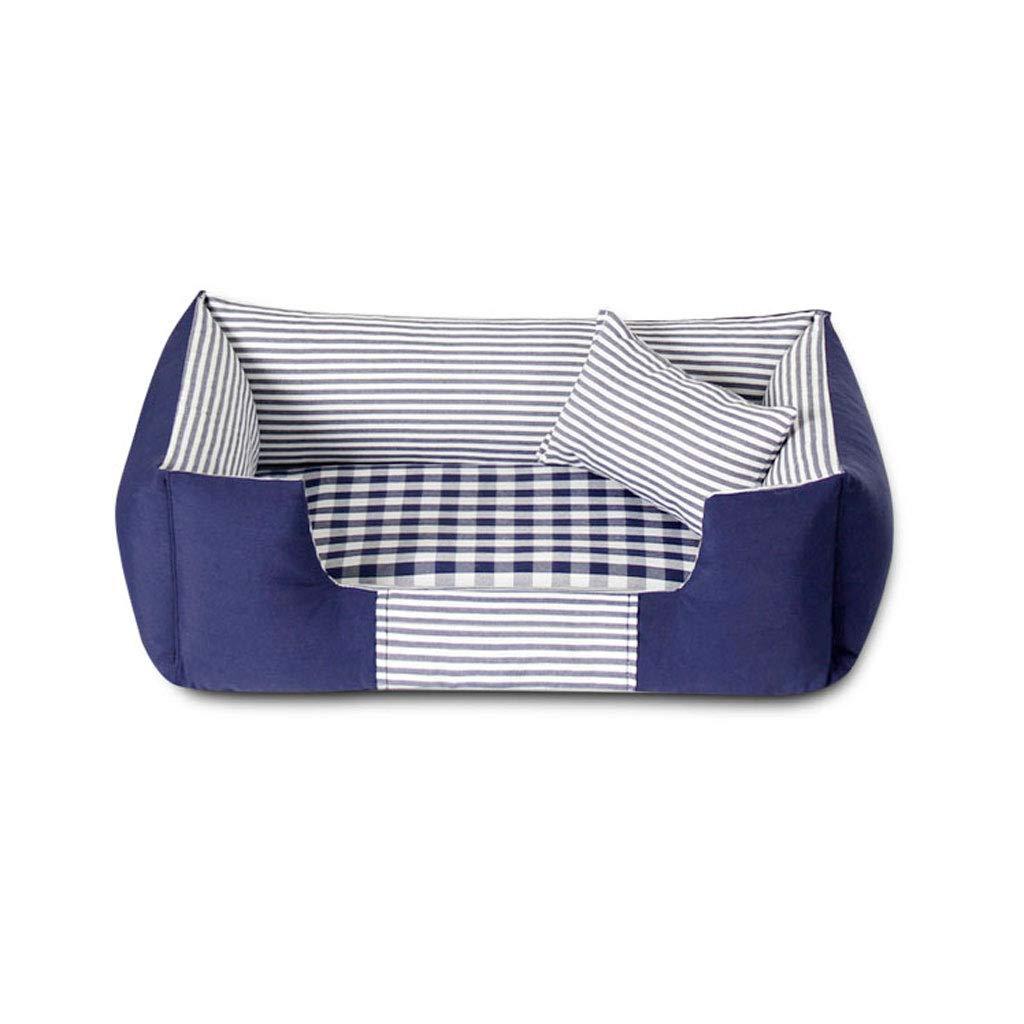 Blue Small Blue Small Rectang Deluxe Soft Caldo Wasable Dog Pet Canvas Basic Dog Bed Cushion Distaccabile e Lavabile (Colore:Blue, Dimensione: piccolo)