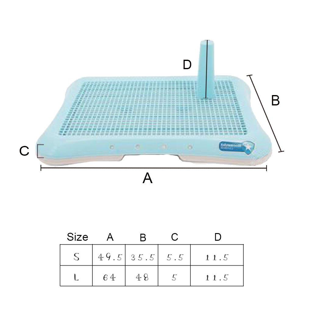 CS Orinatoio da padella per animali domestici, piatto in urina urina urina fissa a due strati ad alta resistenza con urina antiscivolo e grandi cagnolini medi (colore    3, dimensioni   S.) 832646