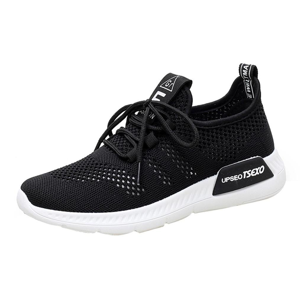 Clearance Women Girls Running Shoes-Casual Mesh Slip-on Sneakers Athletic Walking Shoes 5.5-9 (Black, US:9)