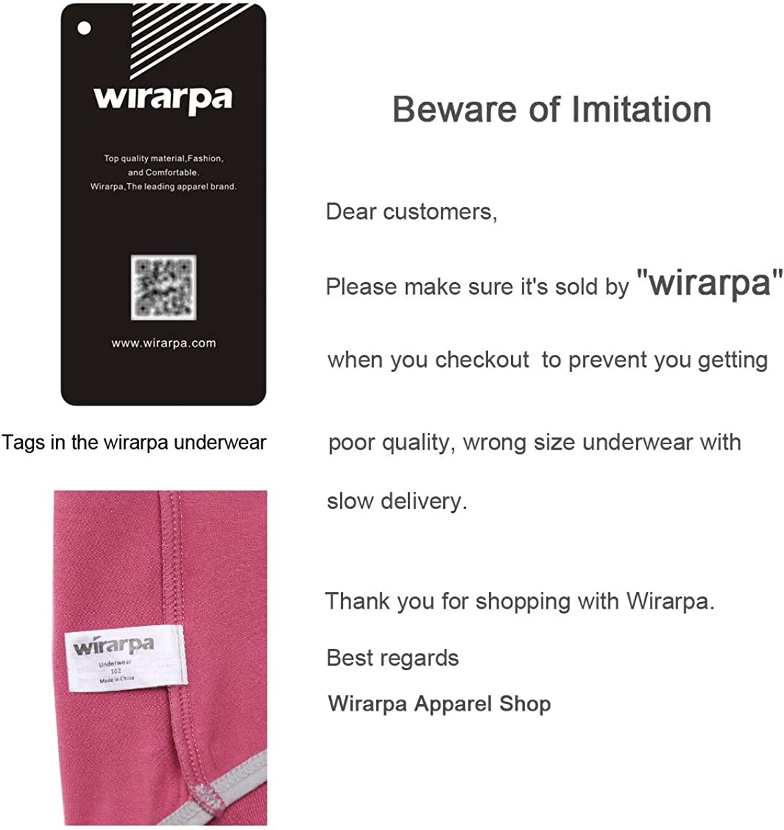 wirarpa Ladies High Waist Knickers Cotton Underwear Full Coverage Briefs Lovely Panties for Women Multipack