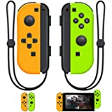 SINGLAND Joy Con Wireless Controller Replacement for Switch, Left&Right Remote with Wrist Strap Support Wake-up Function(Gree