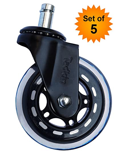 Office Chair Wheels Replacement Set Of 5. Strongest Heavy Duty Office Chair  Caster Wheels For