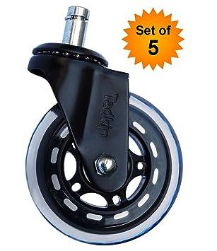 Amazon.com: Silla de oficina silla de ruedas Juego de 5 ...