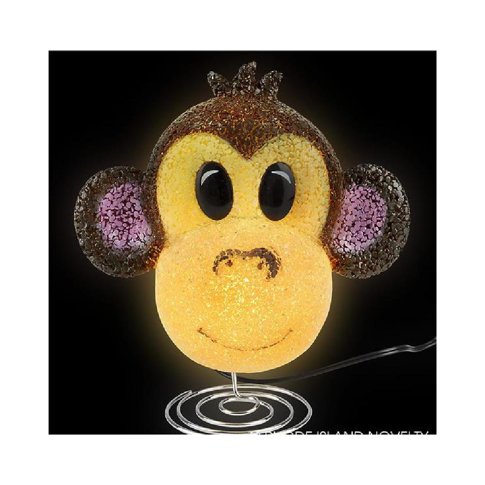8.75'' Sparkle Monkey Lamp (With Sticky Notes)