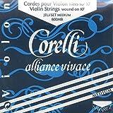 Corelli Alliance Vivace 4/4 Violin String Set Medium with ball E