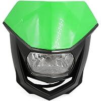 Sourcingmap Cáscara Verde Negro Accesorio de Motocicleta Luchador
