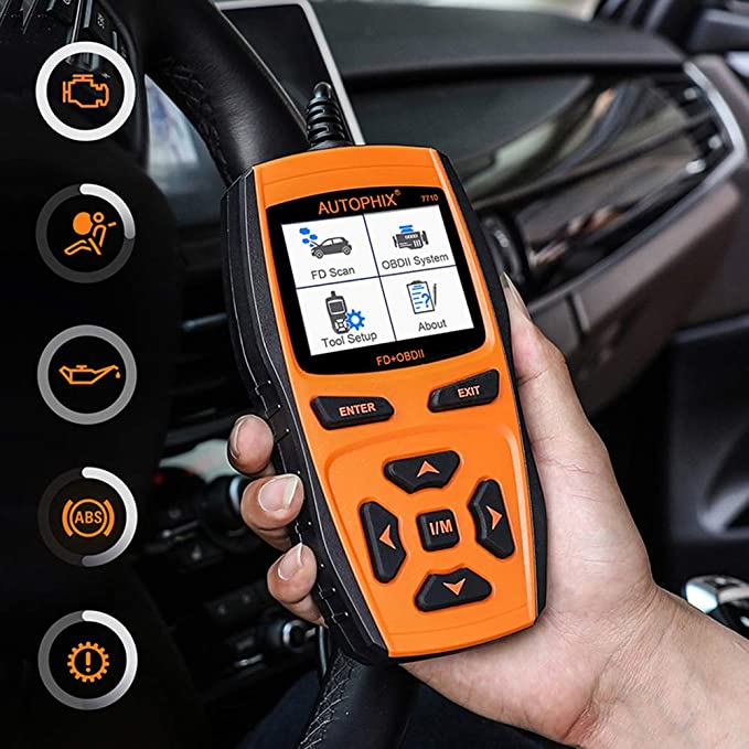 Mercury e OBDII EOBD Engine Fault code Reader Lincoln AUTOPHIX 7710/FD OBDII scanner Full System Scan Tool per Ford