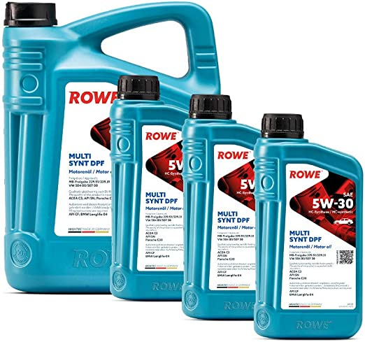 8 Liter 5l 3l Rowe Hightec Multi Synt Dpf Sae 5w 30 Motoröl Made In Germany Auto