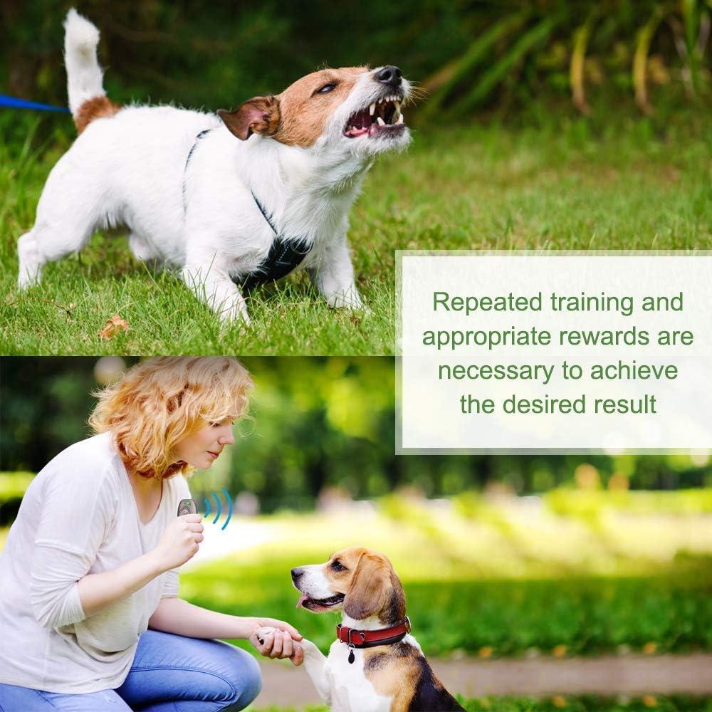 Anti Barking Device Dog Training Aid 2 in 1 Control Range of 16.4 Ft W//Anti-Static Wrist Strap LED Indicate Walk a Dog Outdoor MODUS Ultrasonic Bark Control Device