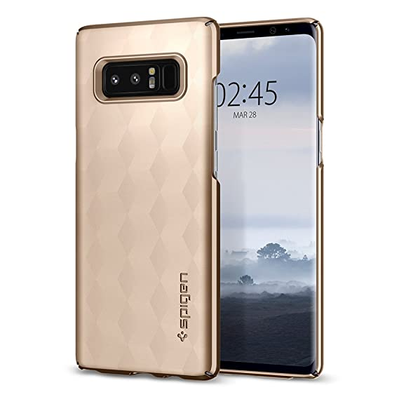 promo code 2e993 1be95 Spigen Thin Fit Designed for Samsung Galaxy Note 8 Case (2017) - Maple Gold