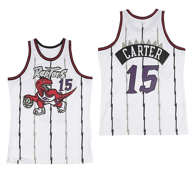 l/égers et Respirants 180cm//75~85kg T-Shirts de Sport Classiques et Confortables Chandail Unisexe pour Swingman Fan,L Maillot /étoile des Raptors de Toronto Vince Carter # 15