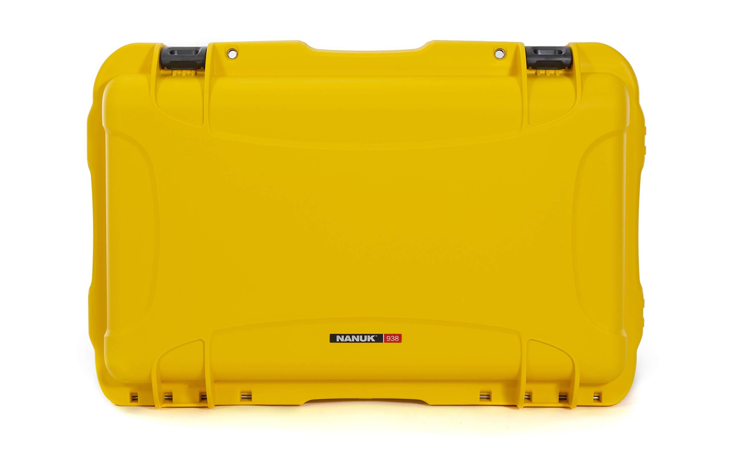 Nanuk 938 Waterproof Hard Case with Wheels and Foam Insert - Yellow by Nanuk
