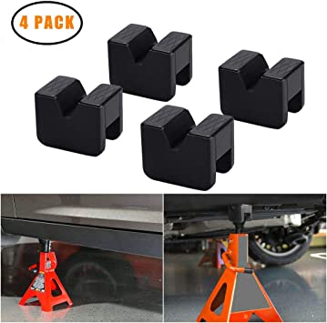 Seven Sparta Floor Jack Pad Adapter 2-4 ton Universal Rubber Slotted Frame Rail Pinch Welds Protector