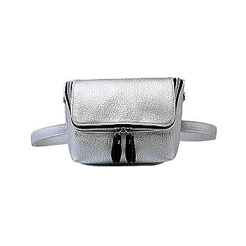 verschiedene Stile Online bestellen genießen Sie besten Preis Badiya Damen Bauchtasche aus Leder, Silber (Silber ...