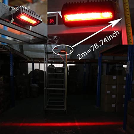 Amazon com: MOVOTOR Forklift Safety Light Cree LED Red Zone