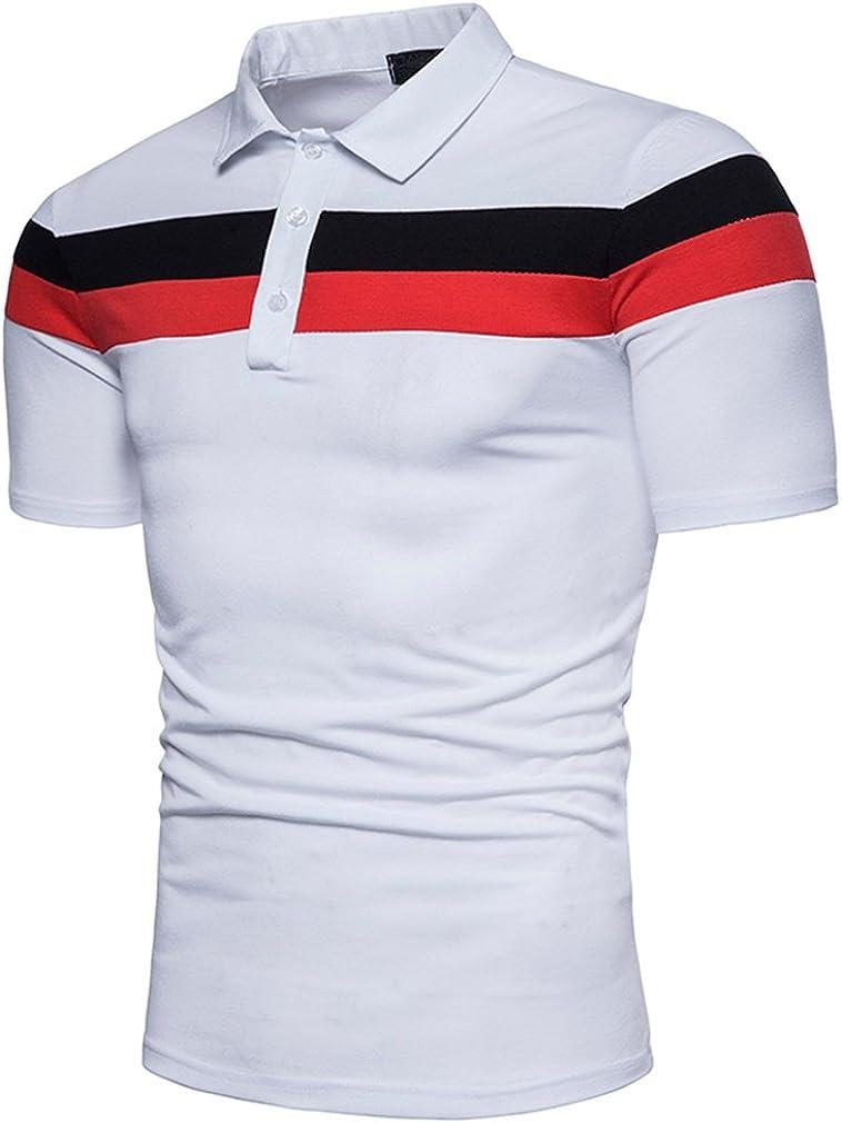 Rcdxing Estilo simple Camiseta blanca a rayas de verano ...