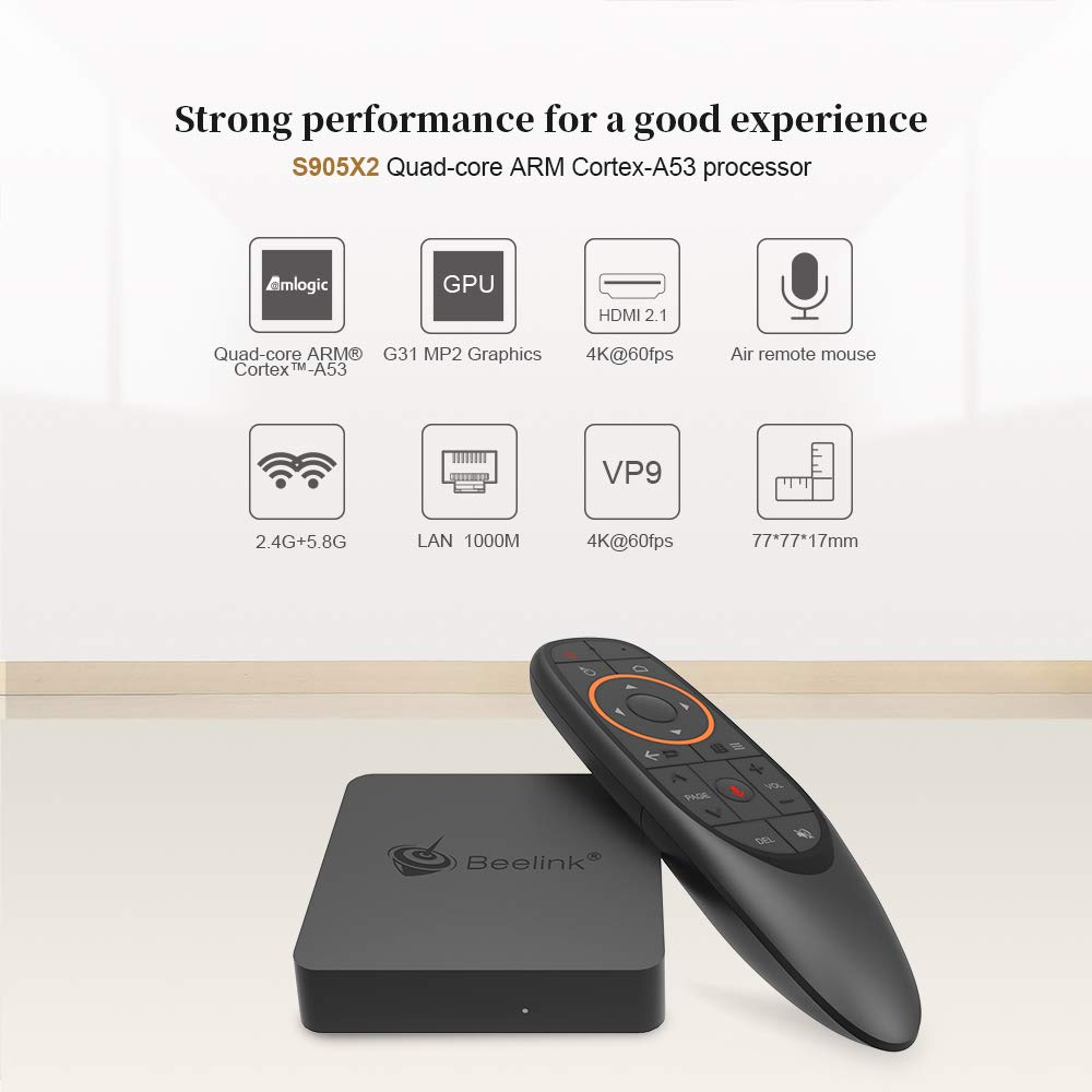 Beelink GT1 Mini A TV Box 4GB RAM 32GB ROM with S905X2 Quad-core ARM  Cortex-A53 HDMI 2 0 4K Output Streaming Media Players with 2 4G Wireless  Voice