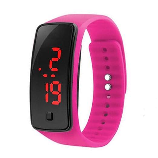 Gfone Niños Reloj LED Reloj Digital de Silicona Deporte C Relojes de Pulsera: Amazon.es: Relojes